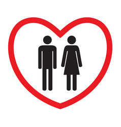 Heterosexual love icon man and woman vector