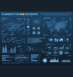 Hud user interface with elements interactive vector