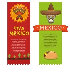 Icons music food mexican design vector