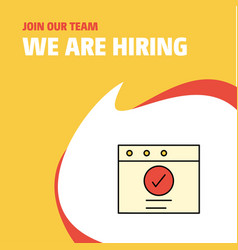 join our team busienss company ok we are hiring vector image
