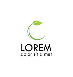 letter c leaf logo vector image