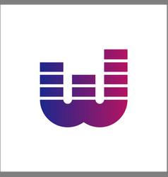 letter w logo initials w logo vector image
