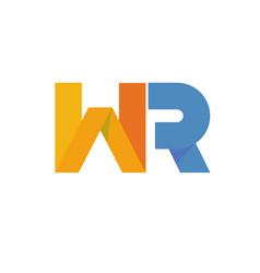 Letter wr logo vector