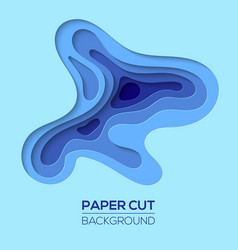 modern paper art cartoon abstract waves vector image