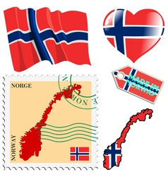 national colours of Norway vector image