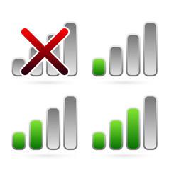 No signal - signal strength indicators vector