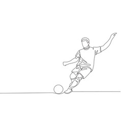 One continuous line drawing of young talented vector