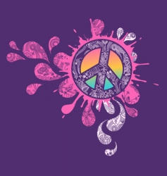 peace sign graphic vector image