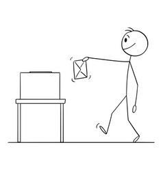 Person holding envelope ballot vote or election vector