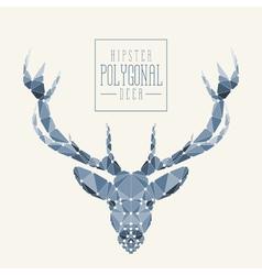 Polygonal deer colored vector image