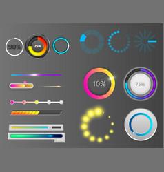 progress loading bar indicators download vector image