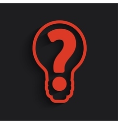Question mark bulb vector