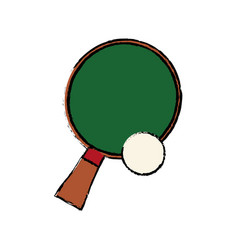 racket and ball ping pong play vector image