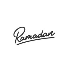ramadan lettering calligraphy for islamic holiday vector image