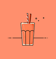 red healthy smoothy vector image