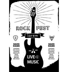 Rock festival poster vector