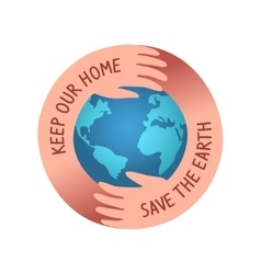 save the world logo vector image