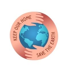 Save world logo vector