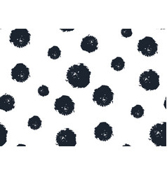Seamless polka dot pattern hand painted grunge vector