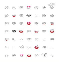 Set of Emotions cartoon vector