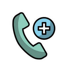 Shadow emergency call cartoon vector
