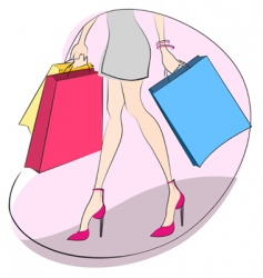 shopping concept vector image