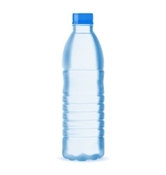 Small water bottle vector image