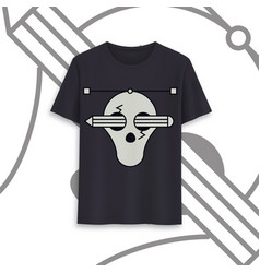 T-shirt template fully editable image vector