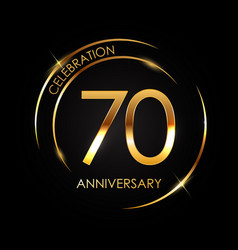 template 70 years anniversary vector image