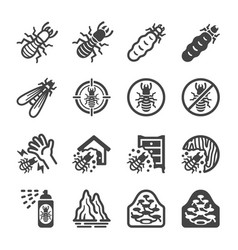 termite icon set vector image