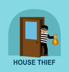 Thief stole money vector