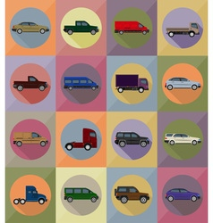 transport flat icons 19 vector image