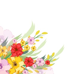 Watercolor Flowers Autumn vector
