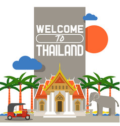 Welcome to thailand banner traditions culture of vector