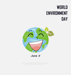 World environment day concept logo design vector