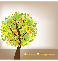 Autumn Background With Tree vector image