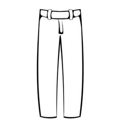 baseball pants icon icon cartoon vector image vector image