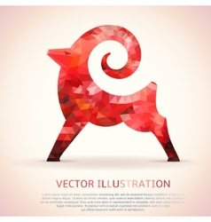 Geometric red shape of the Goat vector image vector image