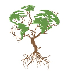 green earth tree vector image vector image