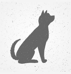 hand drawn black dog vector image vector image