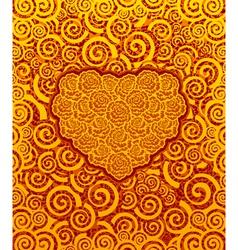 Love flower background vector image vector image