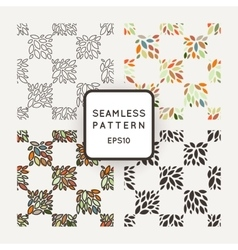 set of seamless geometric patterns of hand vector image