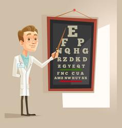 smiling oculist ophthalmologist doctor man vector image
