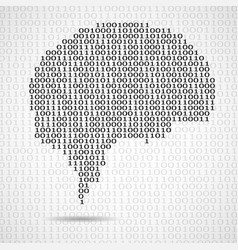 Abstract brain with binary computer code vector
