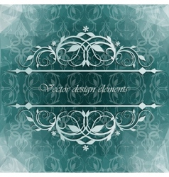 Beautiful background with floral pattern vector image vector image