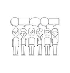 cartoon people icon vector image