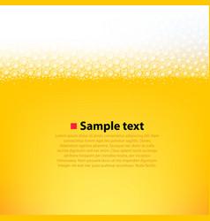 foamy beer bright background vector image vector image