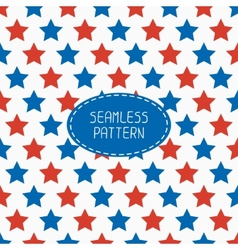 Geometric patriotic seamless pattern with red vector image
