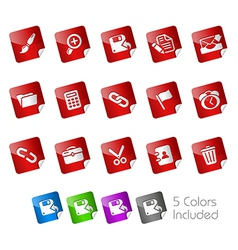 Interface Stickers vector image vector image