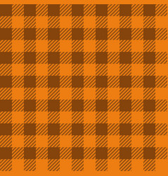 orange lumberjack seamless pattern vector image vector image